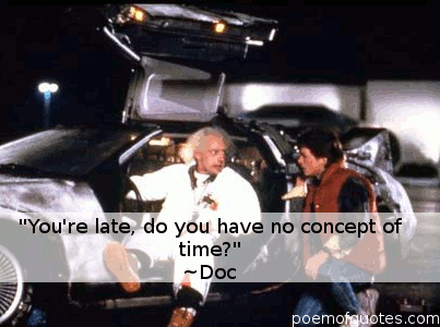 A quote about time