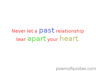 A quote about past relationships.