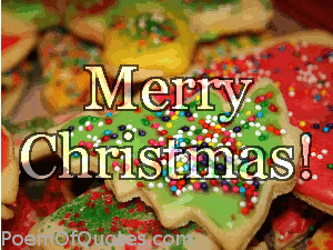 Merry Christmas with cookies
