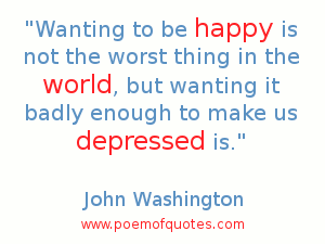 A quote about being depressed