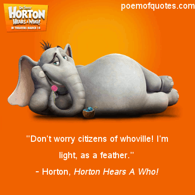 A quote from Horton.