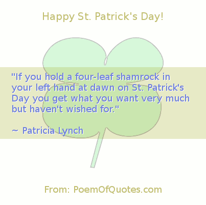 A quote from Patricia Lych for St. Patrick's Day